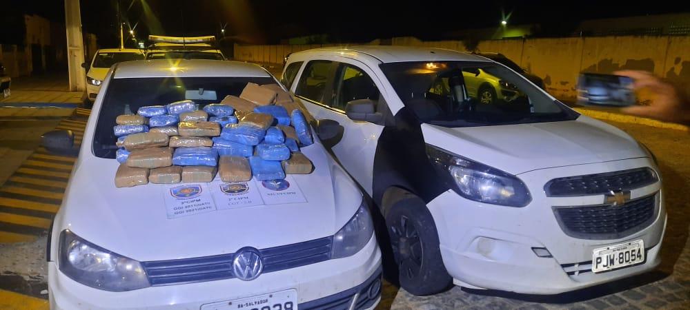 Cabrobó: Em ação conjunta, policiais militares de Pernambuco e da Bahia apreendem mais de 58 kg de maconha