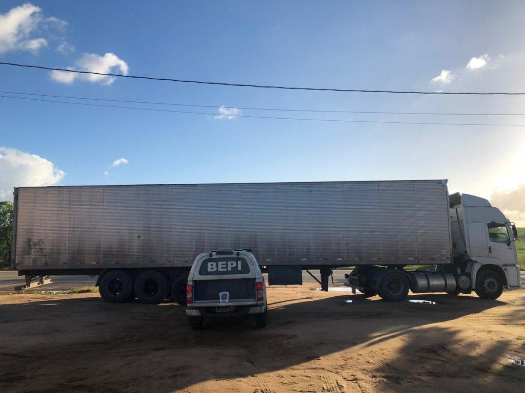 BEPI recupera parte de uma carga roubada avaliada em 800 mil reais