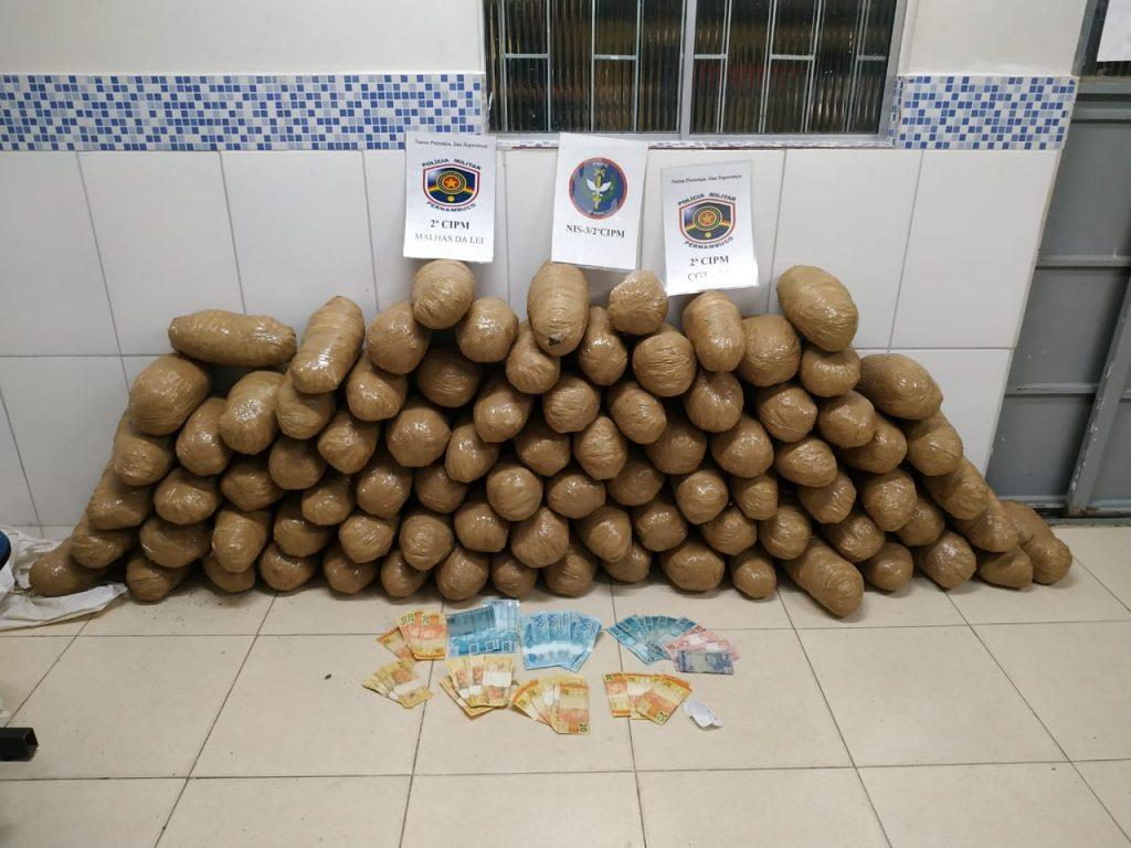 PM apreende 87kg de maconha no sertão de Pernambuco