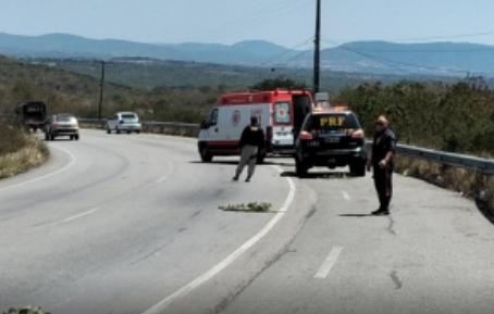 Homem fica ferido em acidente na BR-104, em Caruaru
