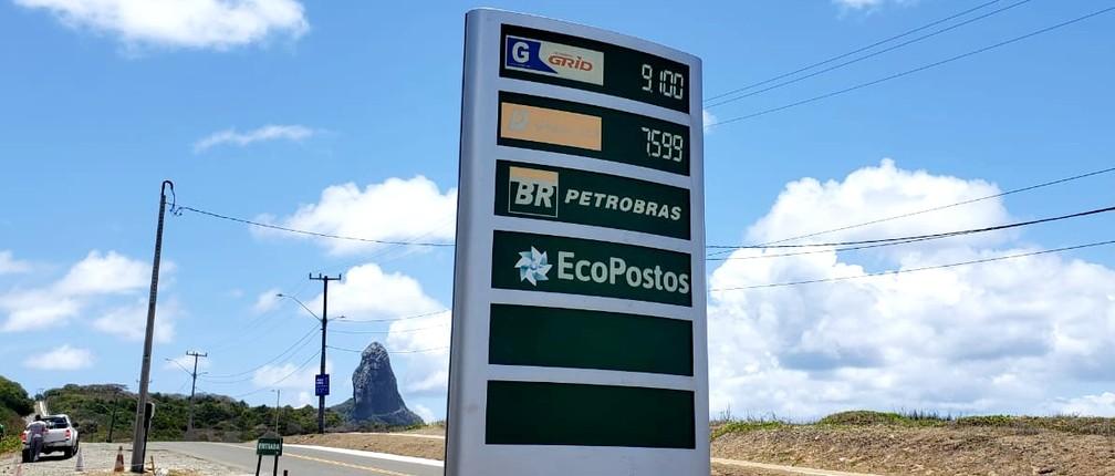 Em Pernambuco preço da gasolina vai para R$ 9,10 em Fernando de Noronha